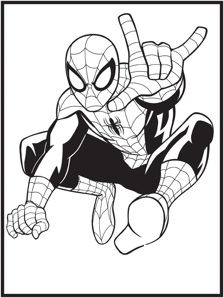 Spiderman Coloring Pages Marvel