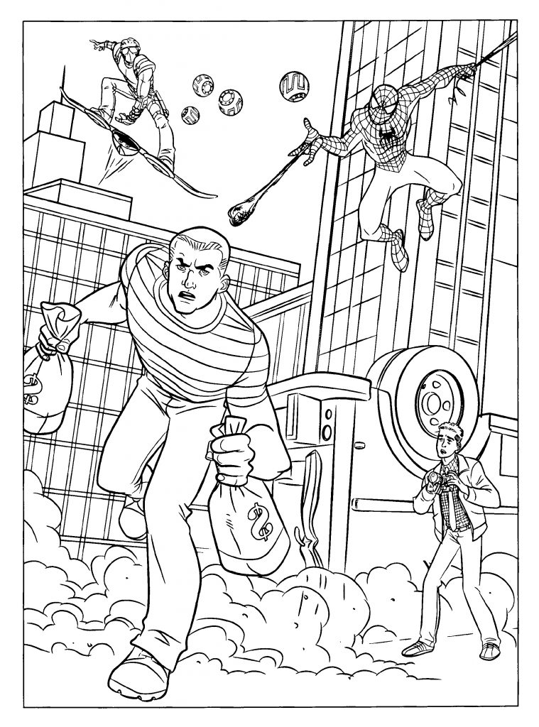 Spiderman Coloring Pages Superheroes