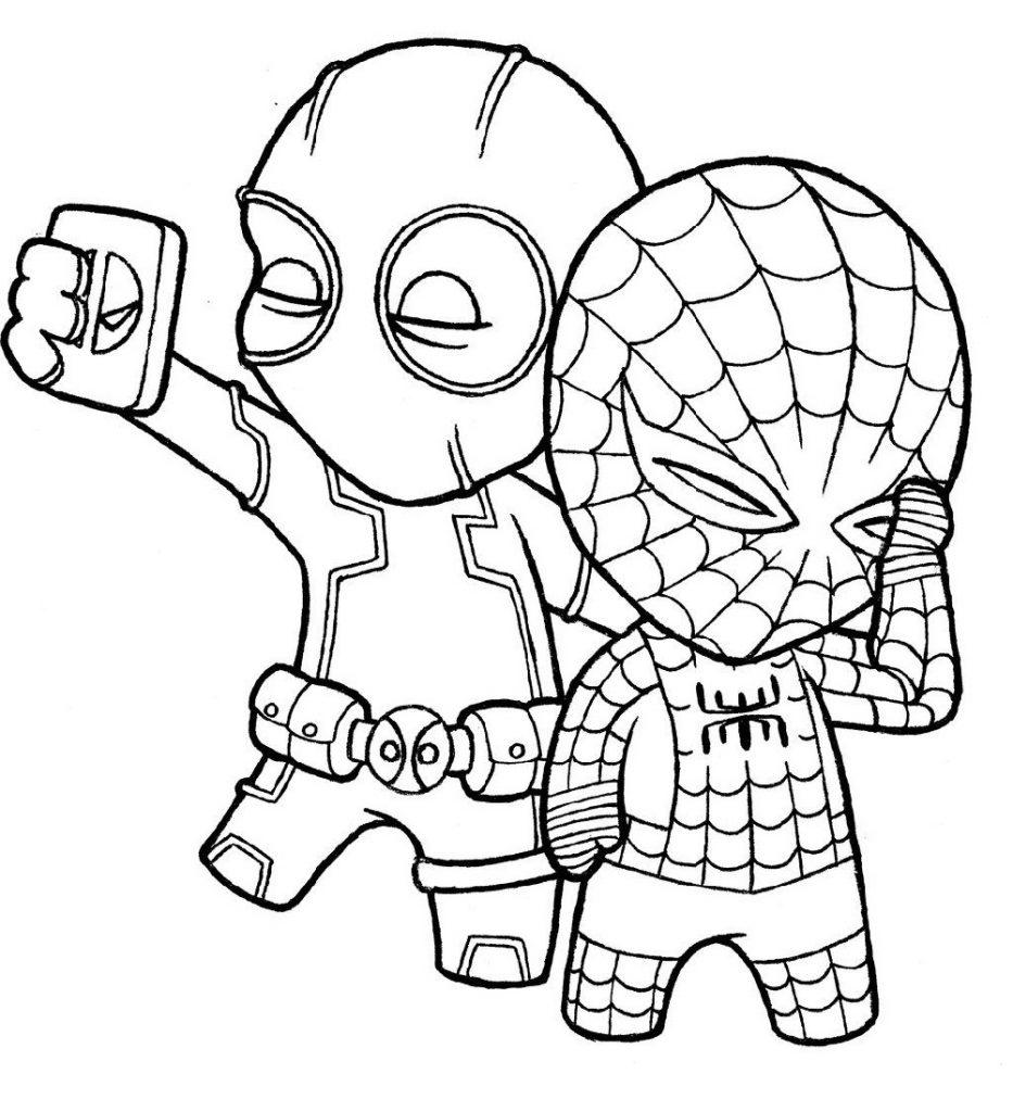 Spiderman Coloring Sheet Chibi