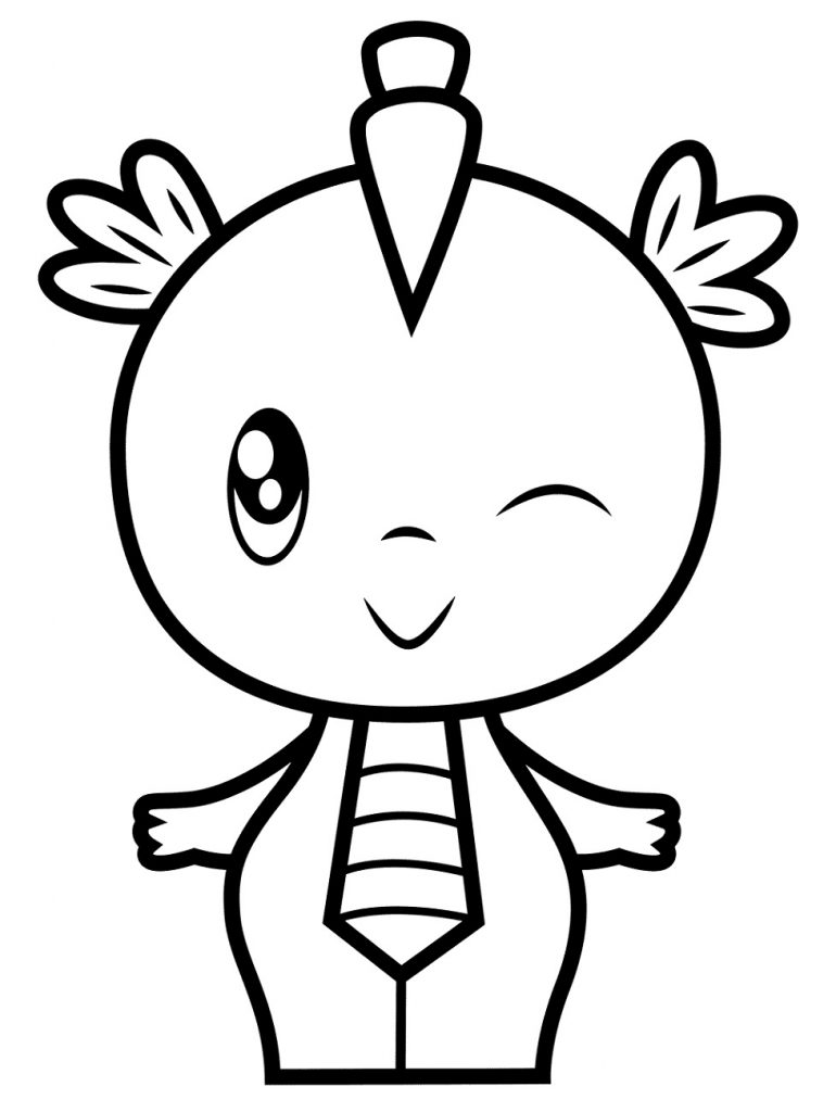 Spike Girl Cute Dragon Coloring Pages