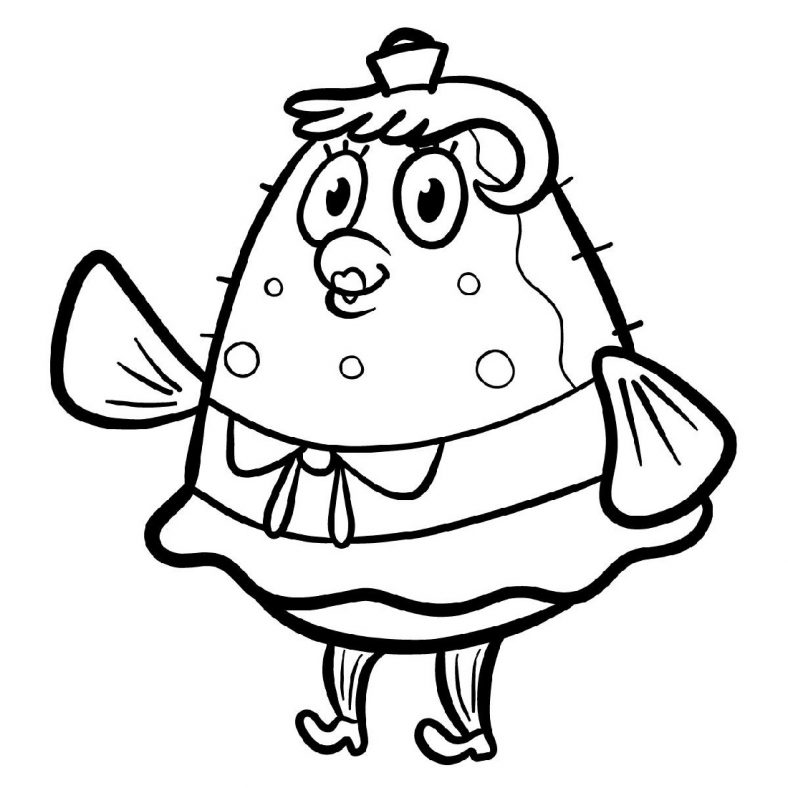 Spongebob Coloring Sheets And Mrs Puff