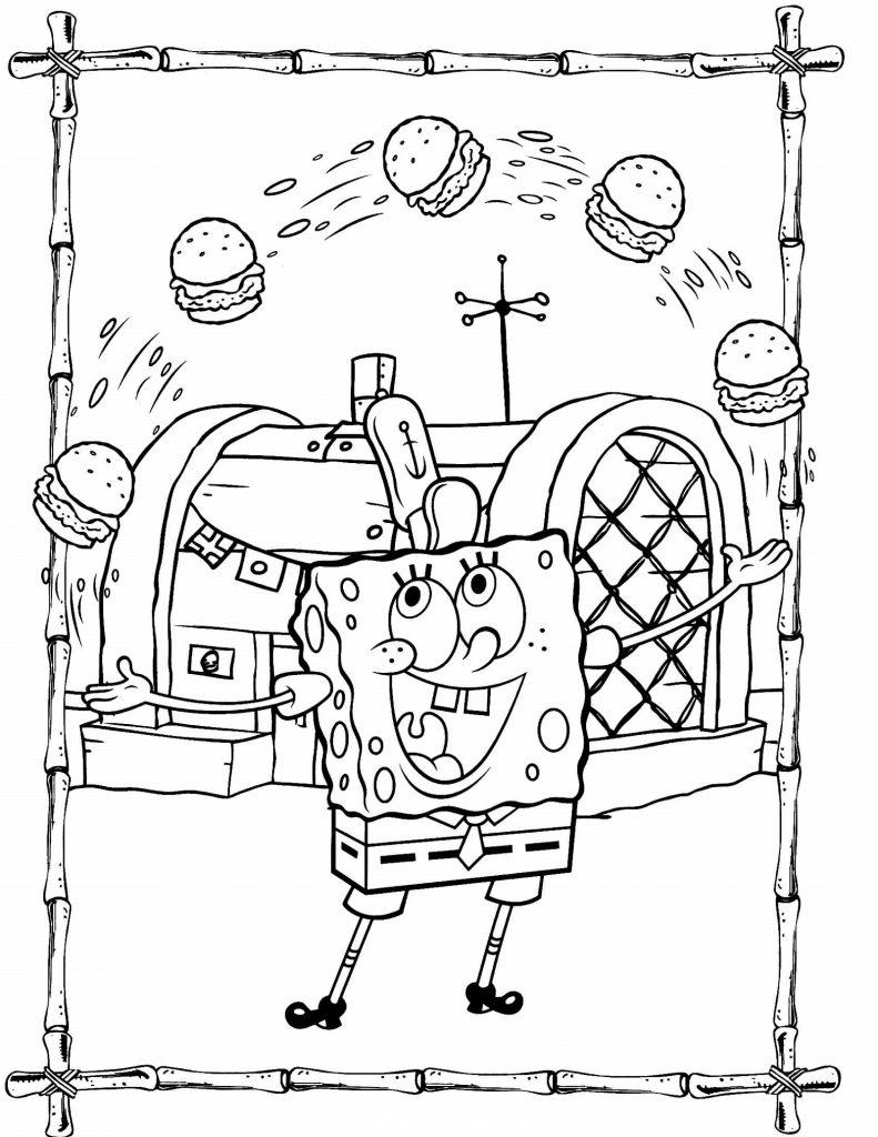 Spongebob Coloring Sheets Krusty Krab