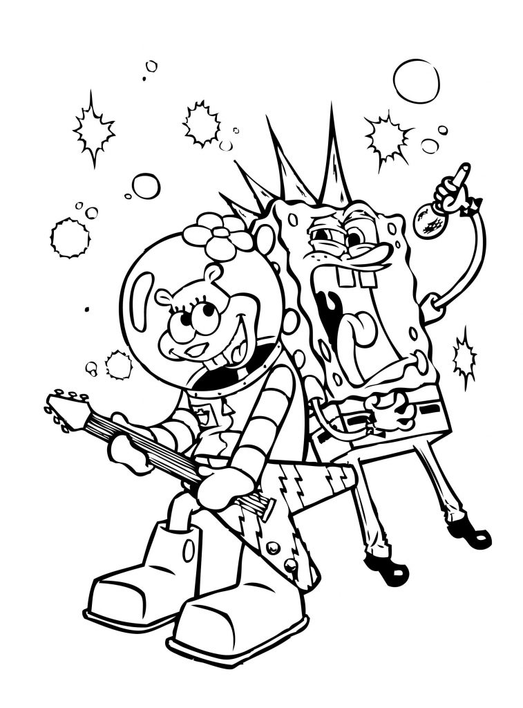 Spongebob Coloring Sheets Singing