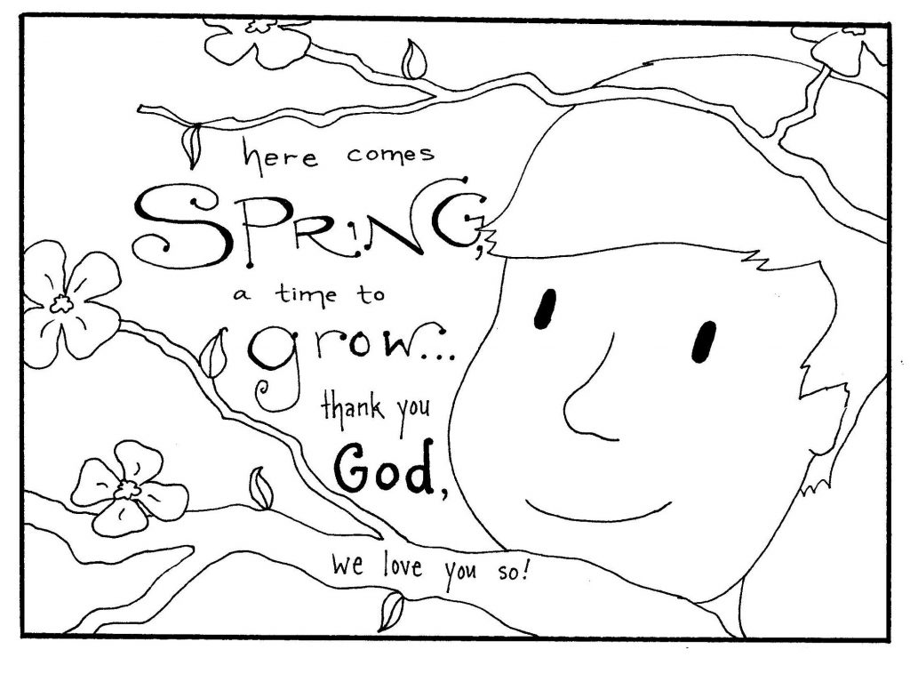 Spring Coloring Pages Quotes