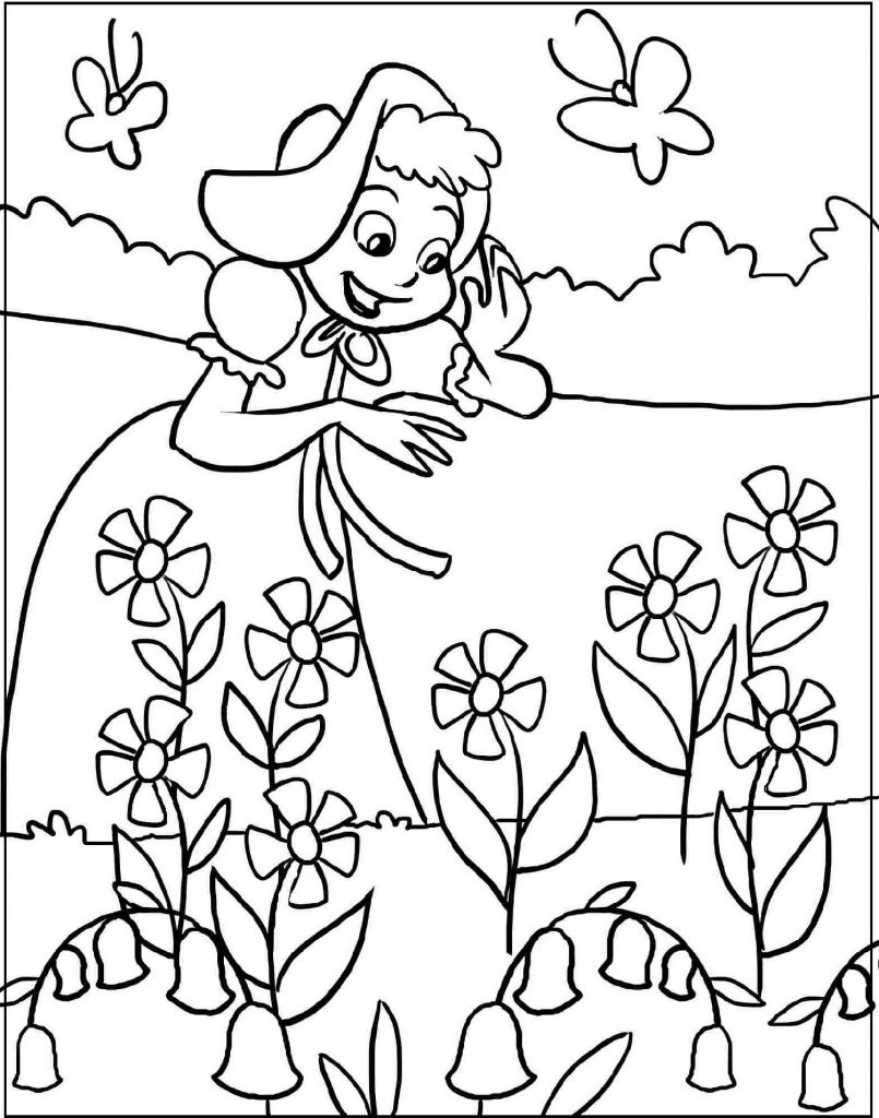 Spring Coloring Sheets Flowers