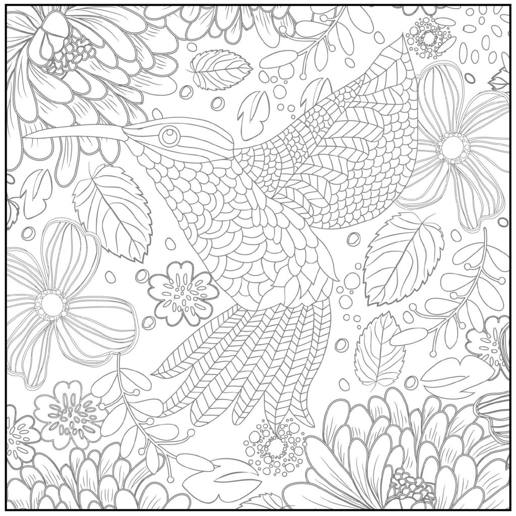 Spring Coloring Sheets For Adults