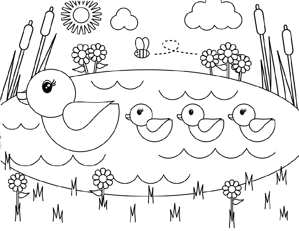 Spring Coloring Sheets For Toddler