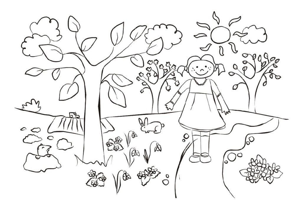 Spring Coloring Sheets Kindergarten