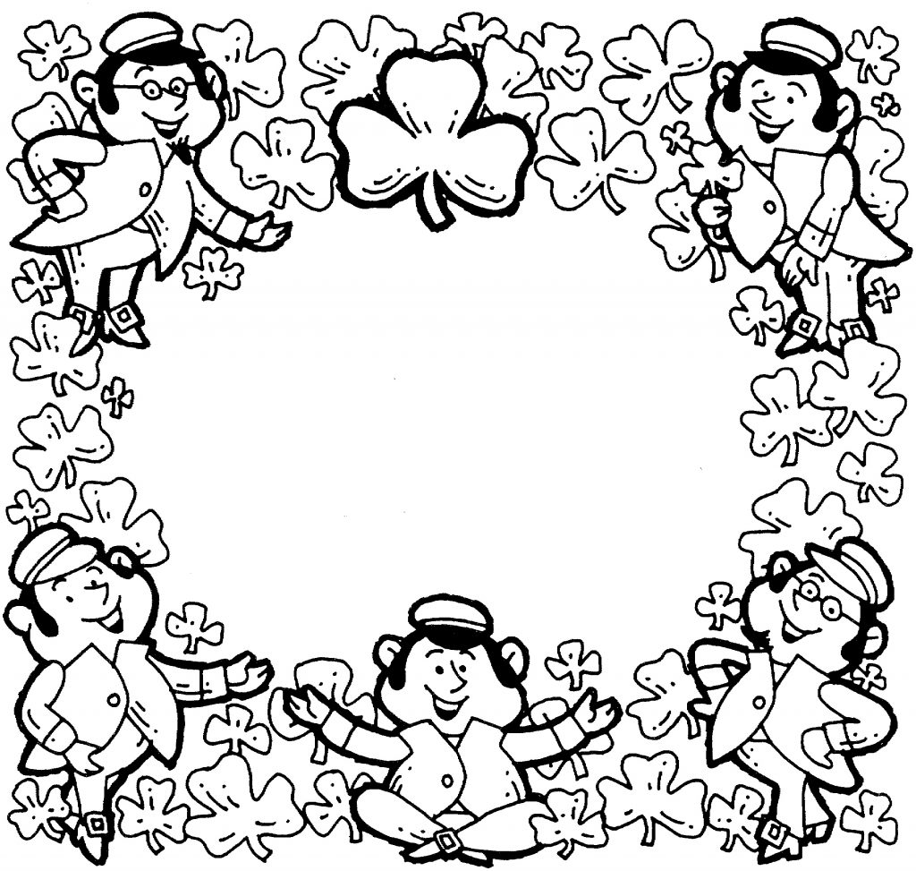 St Patrick Shamrock Coloring Page