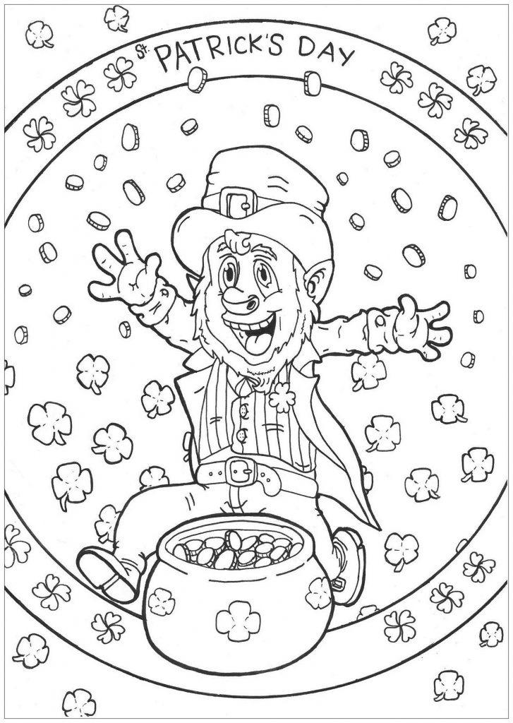 St Patricks Coloring Pages Mandala