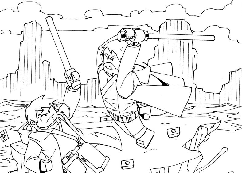 Star Wars Coloring Pages Action