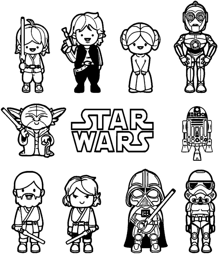 Star Wars Coloring Pages Cartoon