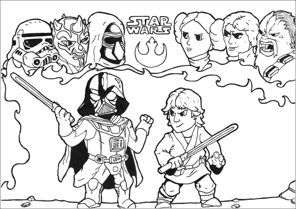 Star Wars Coloring Pages Movie