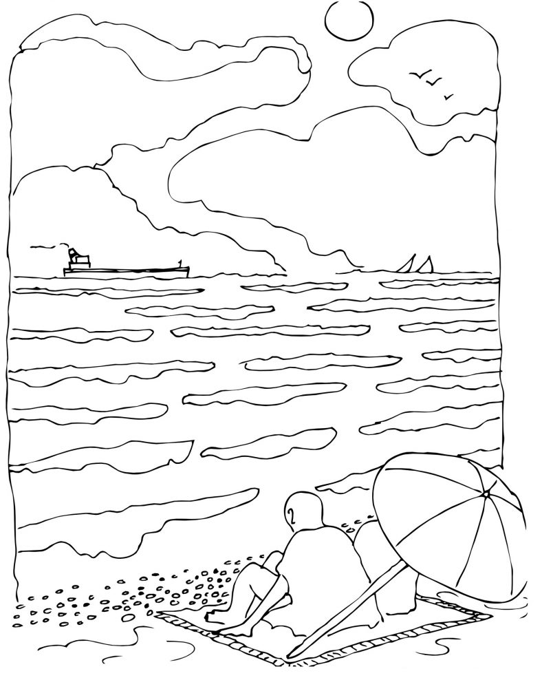 Summer Coloring Pages Beach