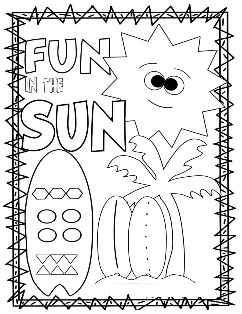 Summer Coloring Pages Fun