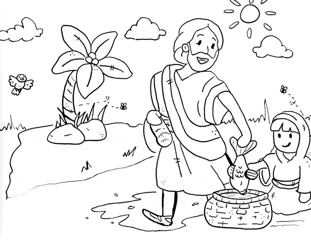 Sunday School Coloring Pages Free