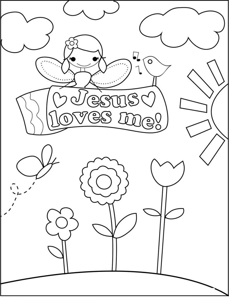 Sunday School Coloring Pages Jesus Love