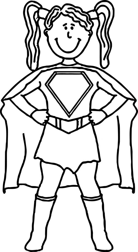 Supergirl Coloring Pages To Print