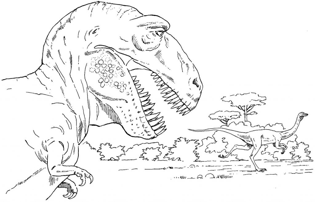 T Rex Coloring Page Jurassic Park