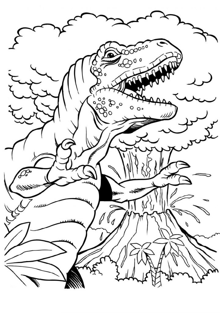 T Rex Coloring Page To Color