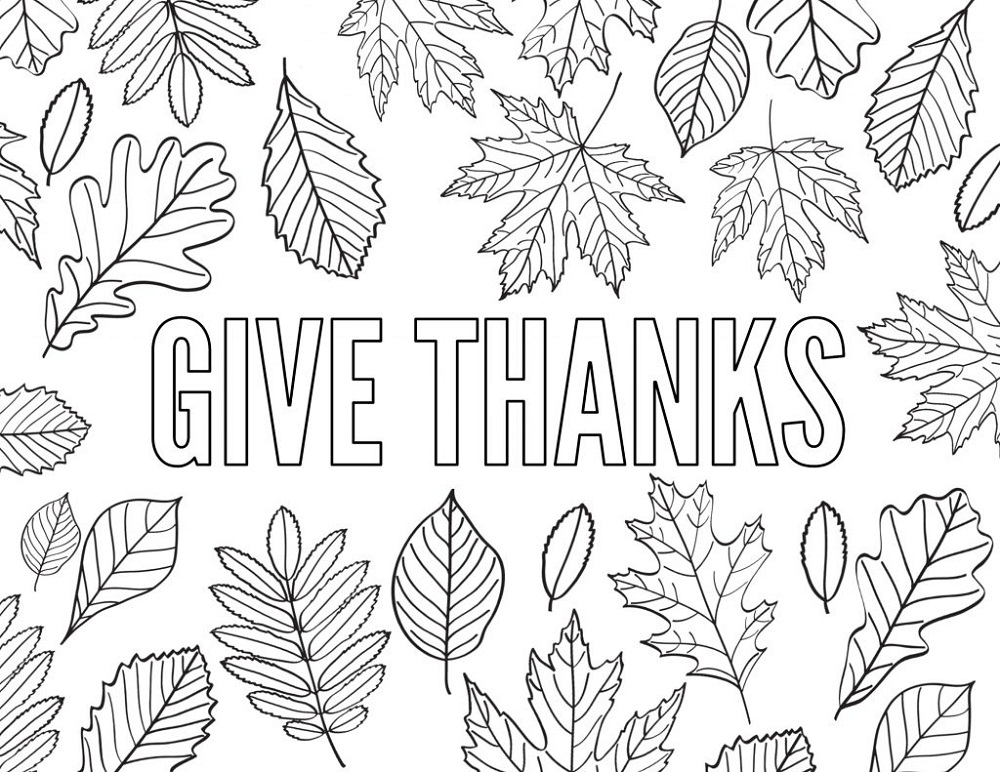 Thank You Coloring Pages Grateful