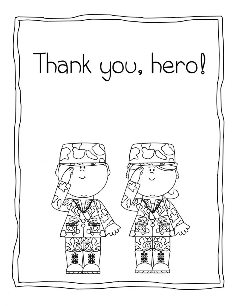 Thank You Coloring Pages Veterans Day
