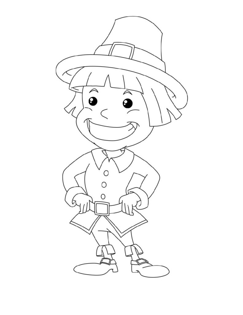 Thanksgiving Coloring Pages Pilgrims