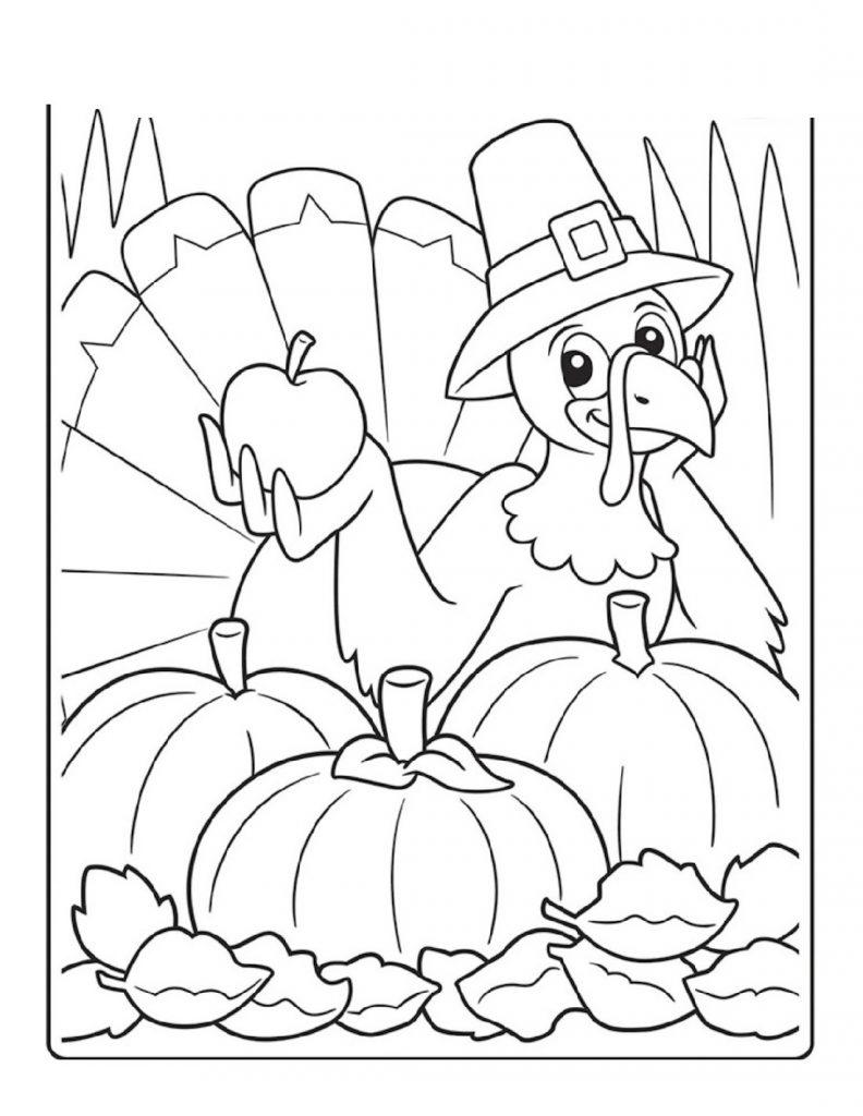 Thanksgiving Coloring Sheets Cartoon