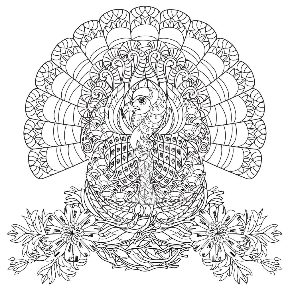 Thanksgiving Coloring Sheets For Adults