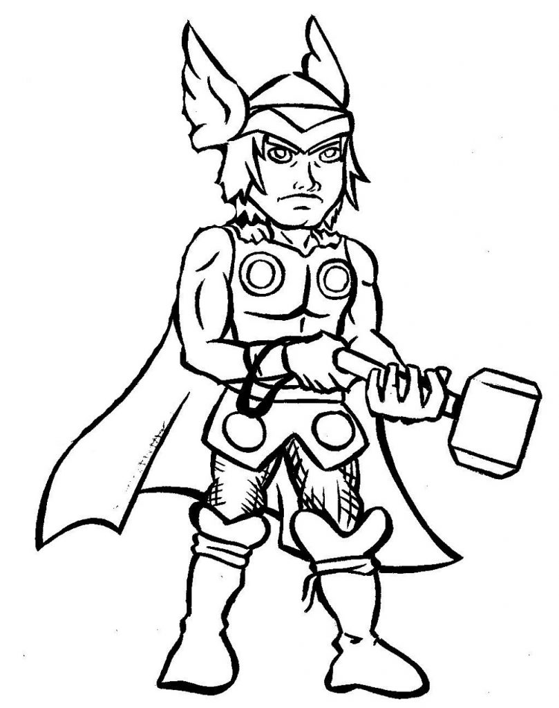 Thor Coloring Pages Cartoon