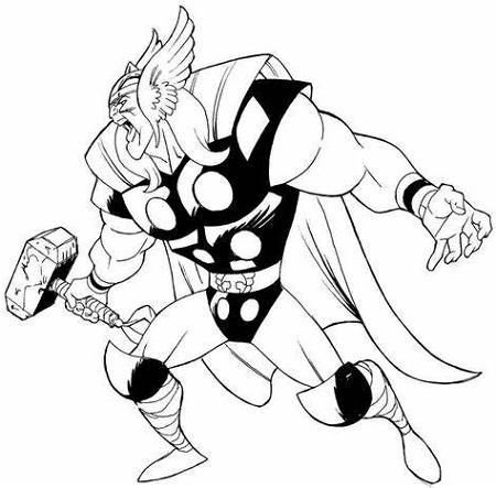 Thor Coloring Pages Infinity War