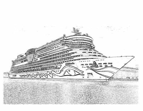Titanic Coloring Pages Cruise Ship