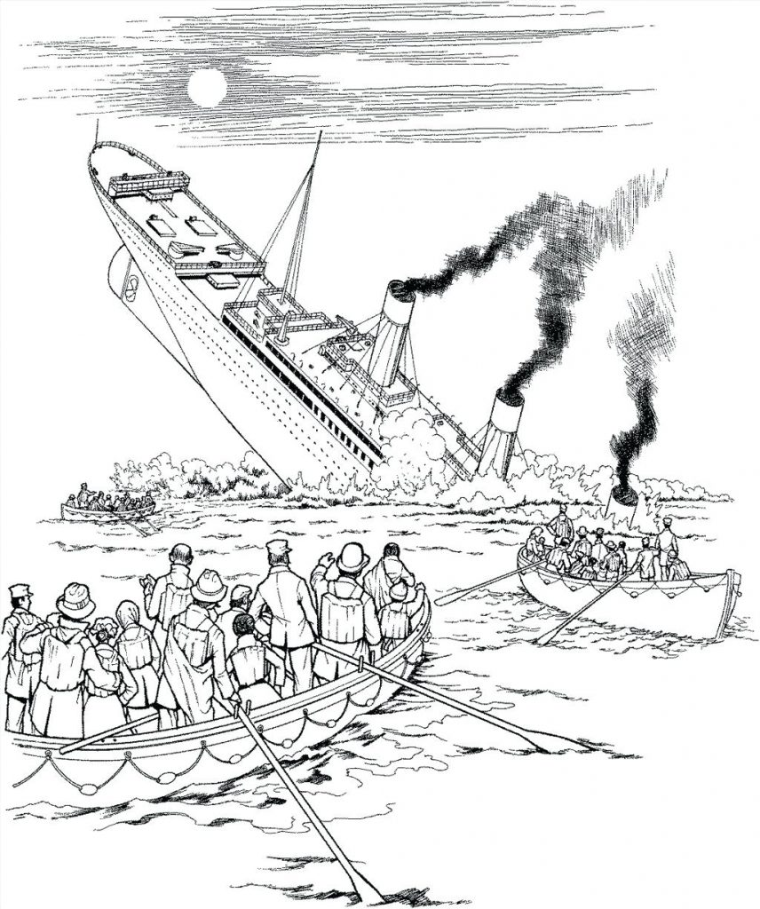 Titanic Coloring Pages Movie