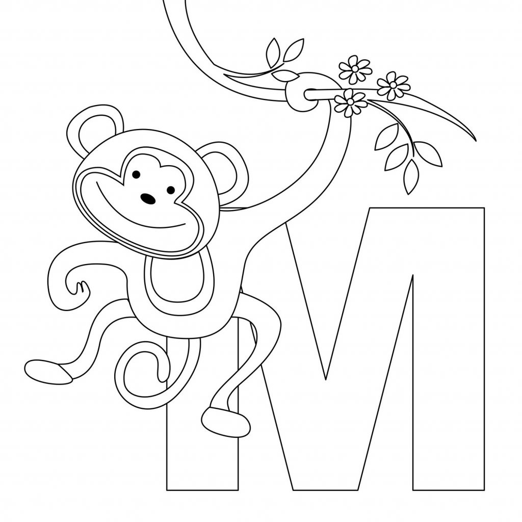 Toddler Coloring Pages Alphabet