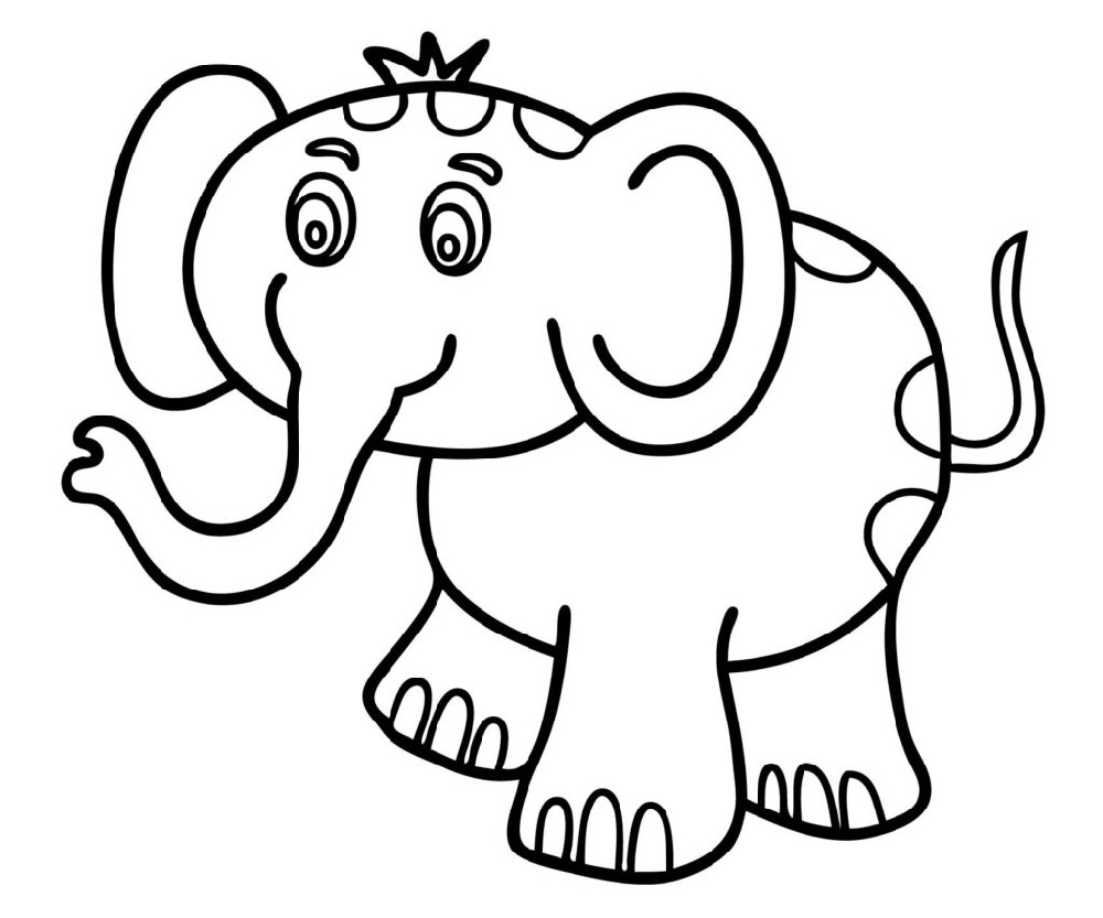 Toddler Coloring Pages Cute