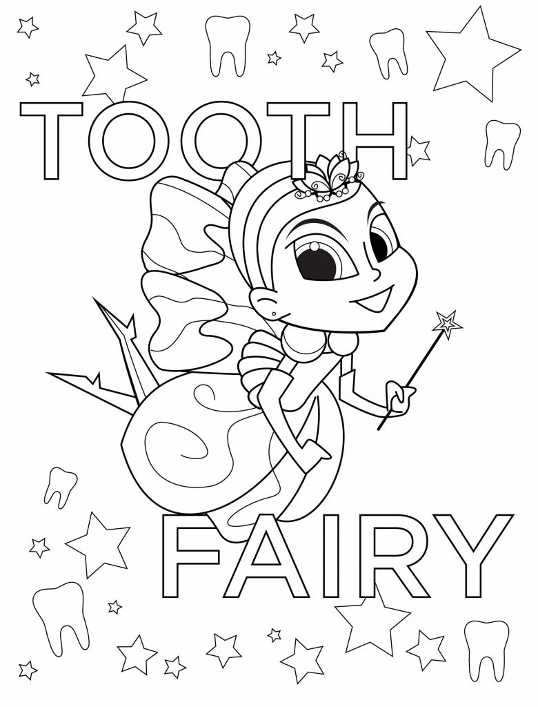 Tooth Fairy Coloring Pages 2018 PDFs