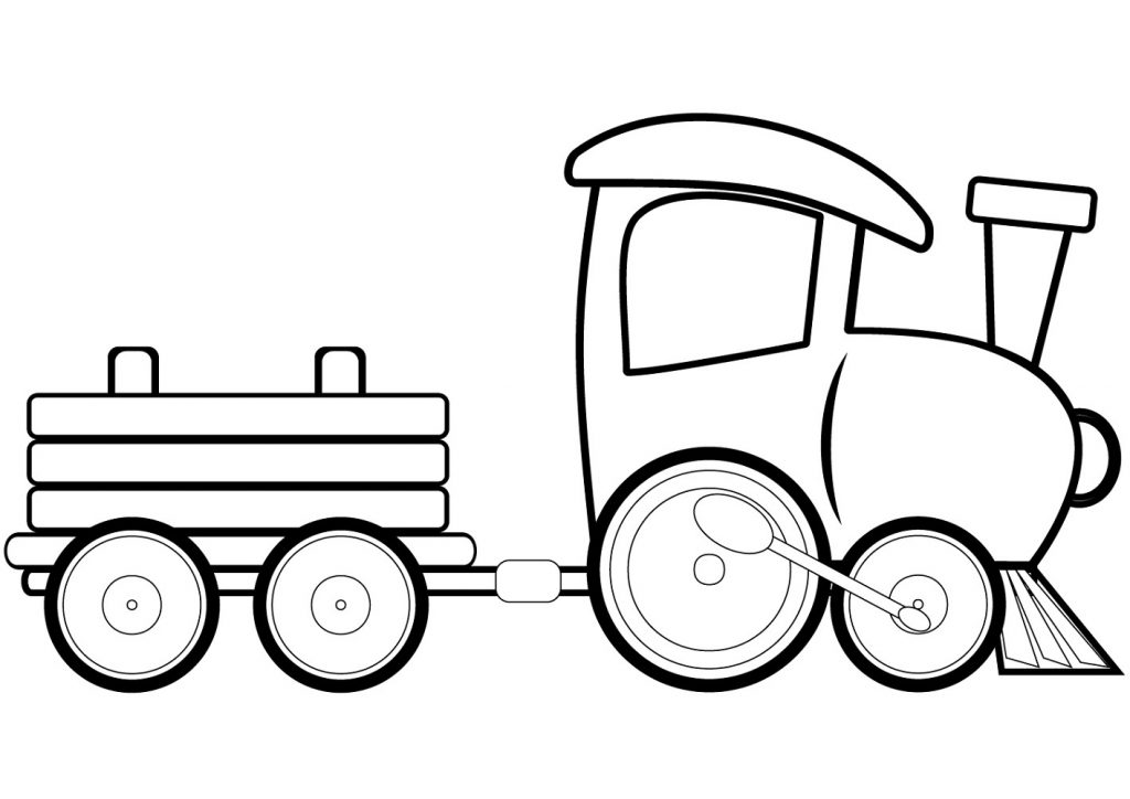 Train Coloring Pages Cartoon