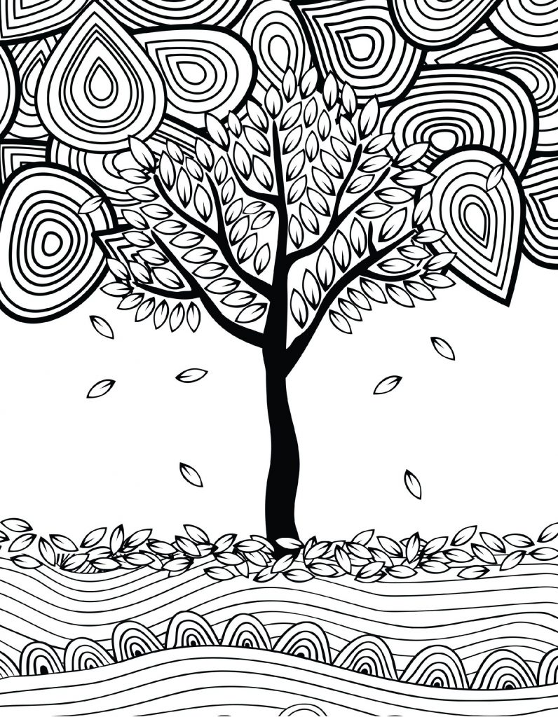 Tree Autumn Coloring Pages