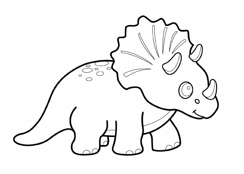 Triceratops Coloring Page Cute