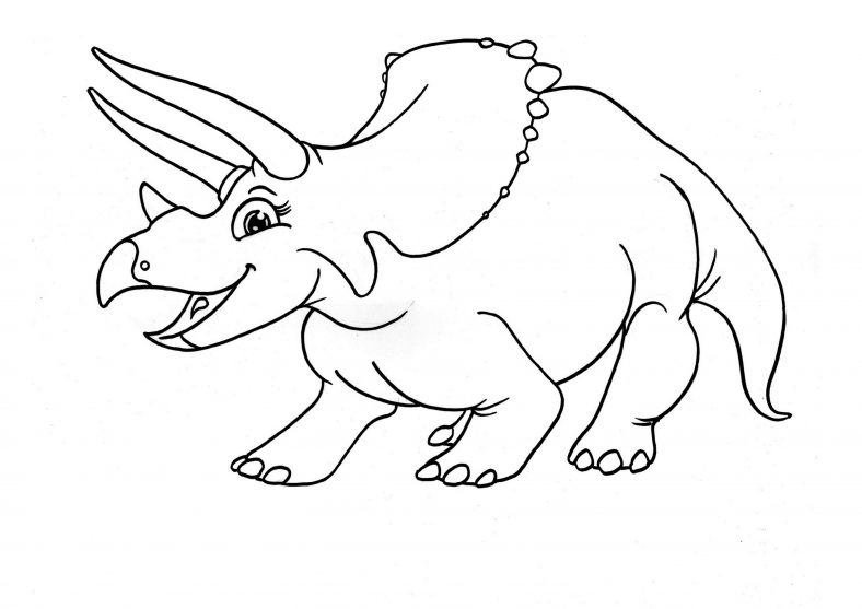 Triceratops Coloring Page Dinosaur