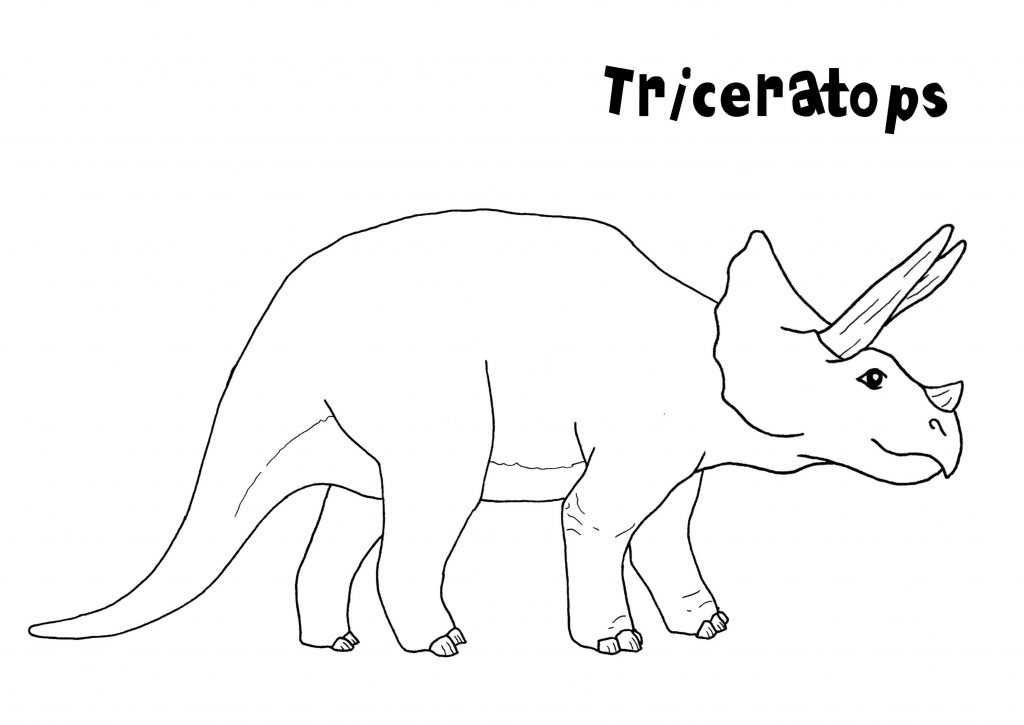 Triceratops Coloring Page Simple
