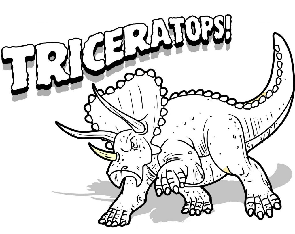 Triceratops Coloring Page Unique