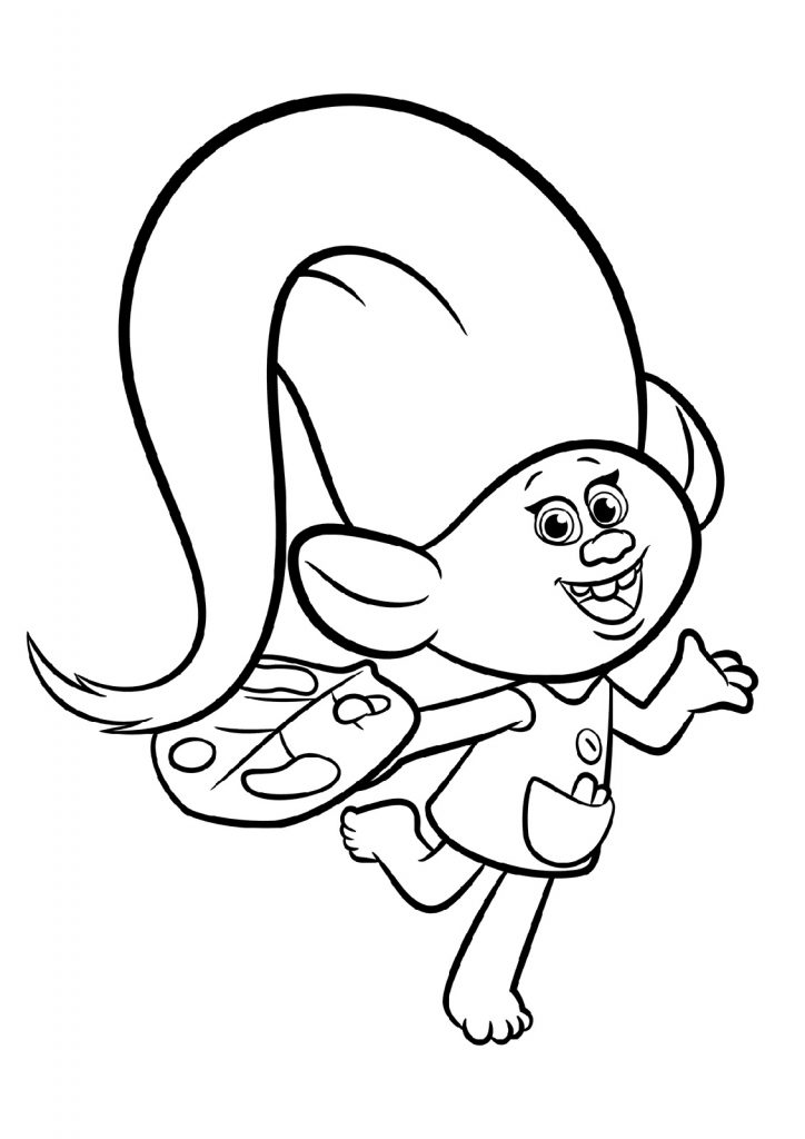 Trolls Coloring Pages For Kids 101 Coloring