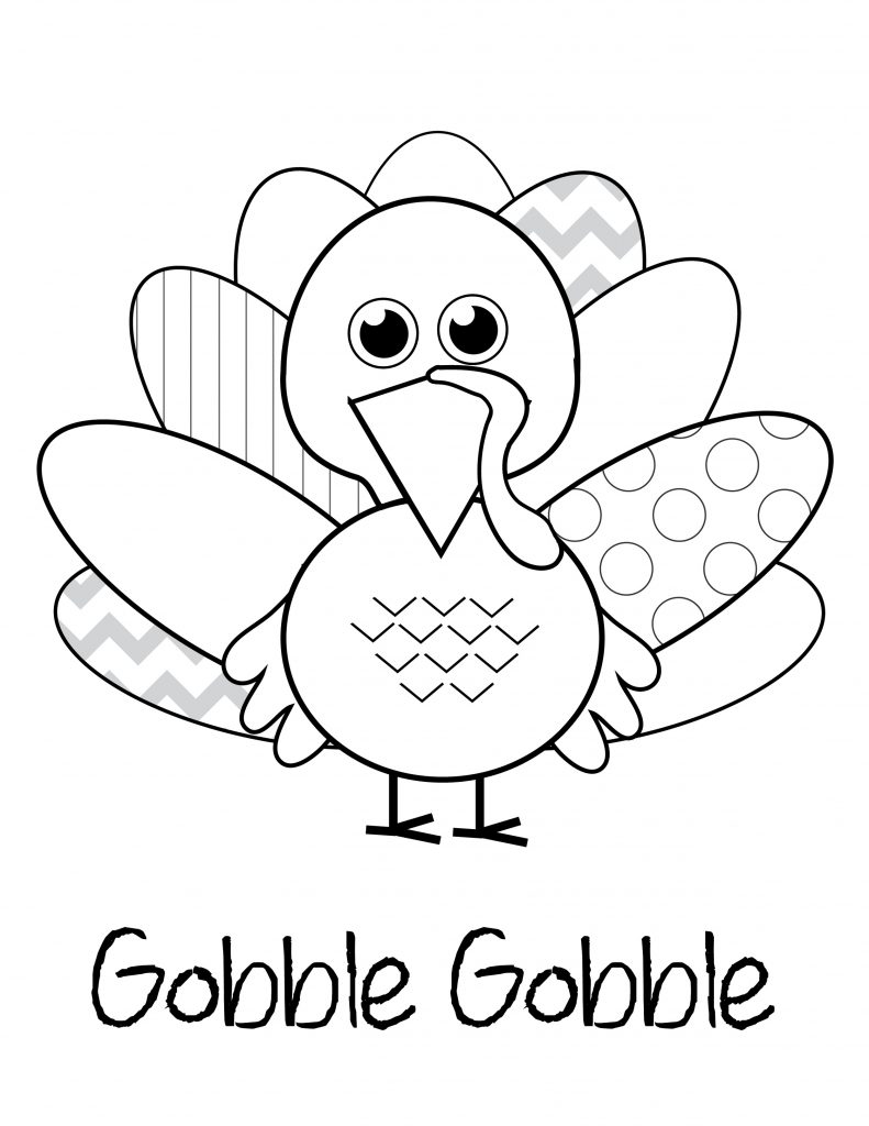 Turkey Coloring Pages Cute