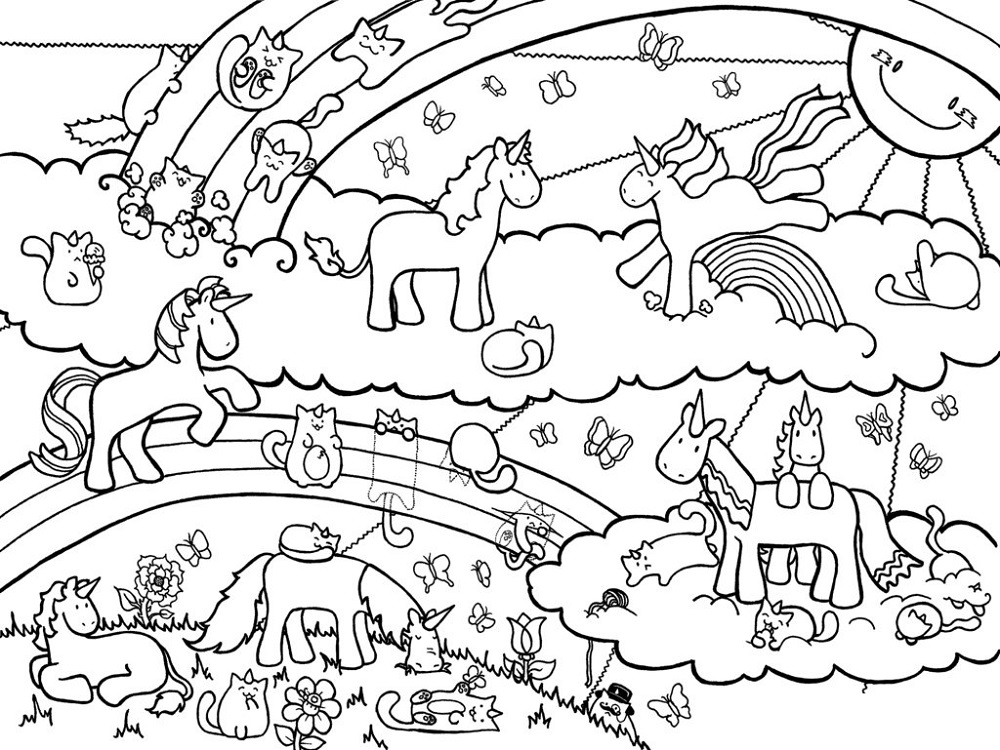 Unicorn Coloring Pages fairy Tales