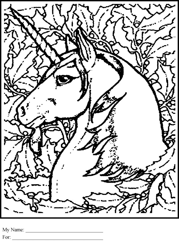 Unicorn Pictures To Color For Adults