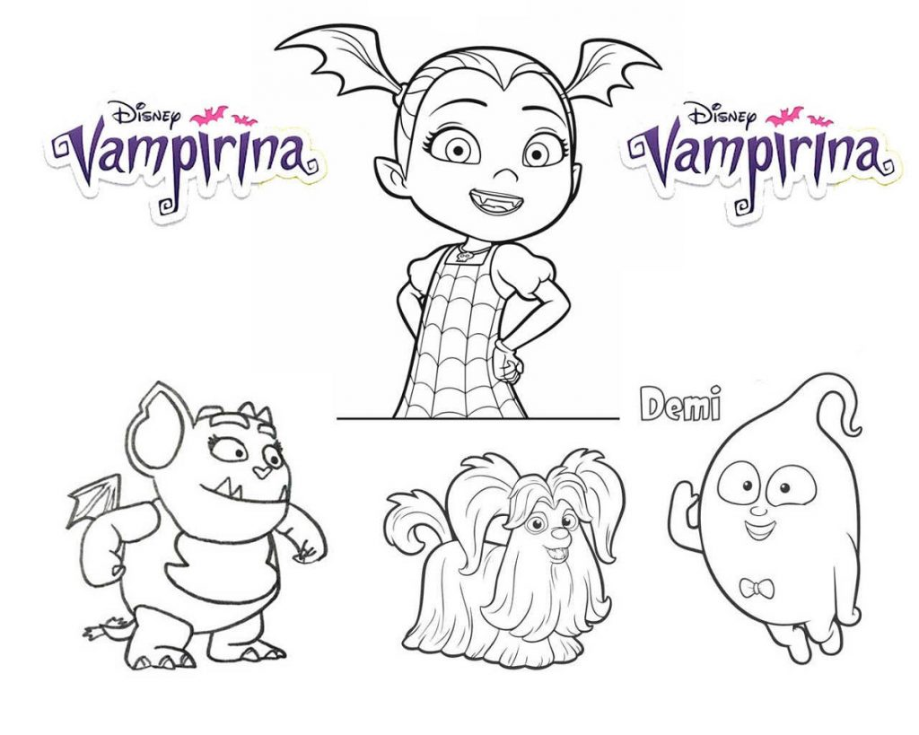 Vampirina Coloring Pages And Friends