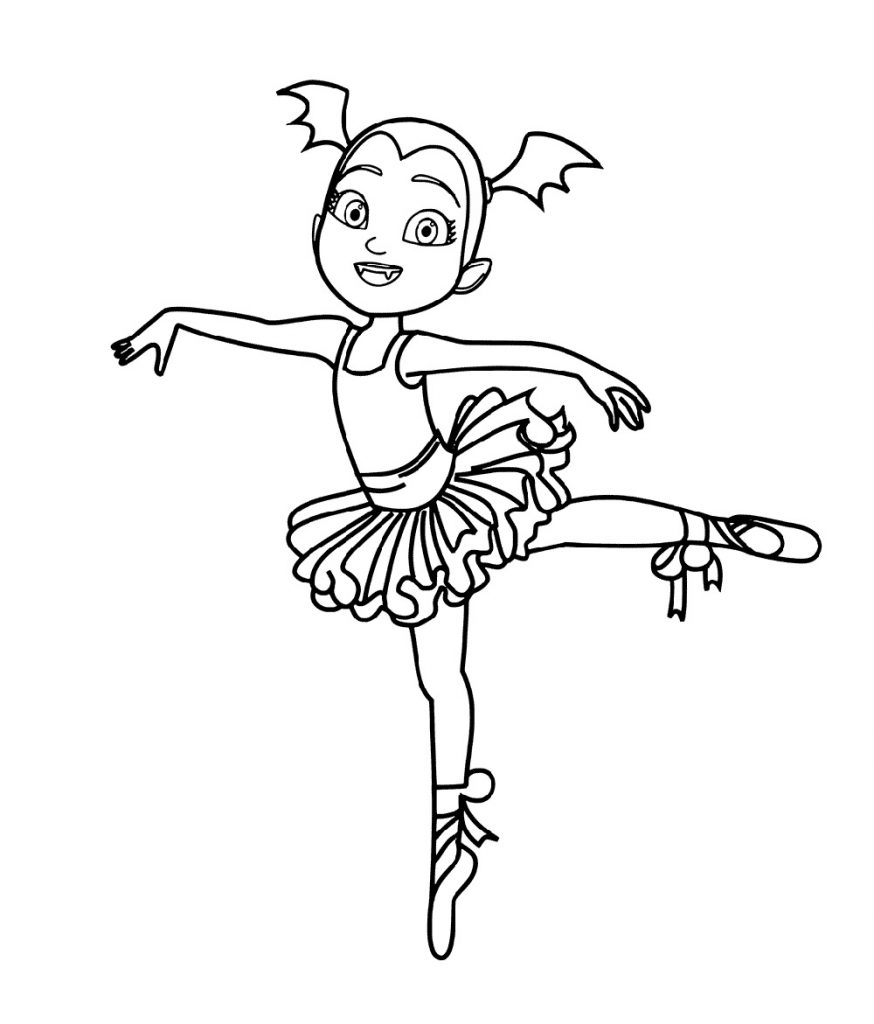 Vampirina Coloring Pages Ballerina