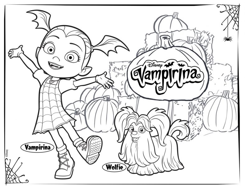 Vampirina Coloring Pages Disney