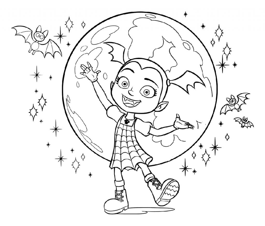 Vampirina Coloring Pages Free